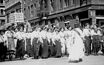 Young Women Protest the Triangle Fire, 1911